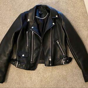NWOT Zara Faux Leather Moto Jacket